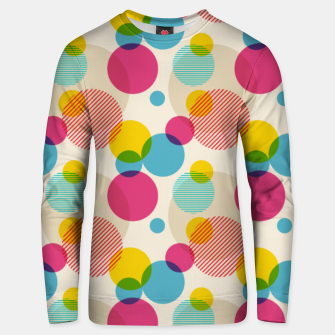 Thumbnail image of Dots in Yellow, Pink and Blue – Unisex sweater, Live Heroes