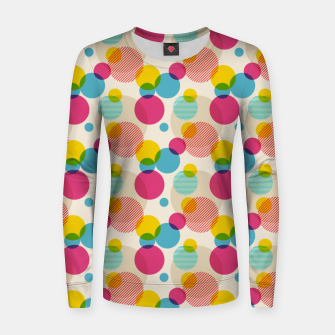 Thumbnail image of Dots in Yellow, Pink and Blue – Women sweater, Live Heroes