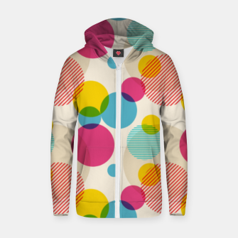 Dots in Yellow, Pink and Blue – Zip up hoodie thumbnail image