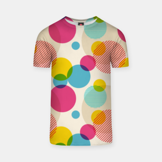 Dots in Yellow, Pink and Blue – T-shirt thumbnail image
