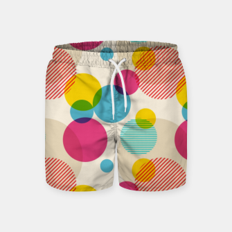 Thumbnail image of Dots in Yellow, Pink and Blue – Swim Shorts, Live Heroes