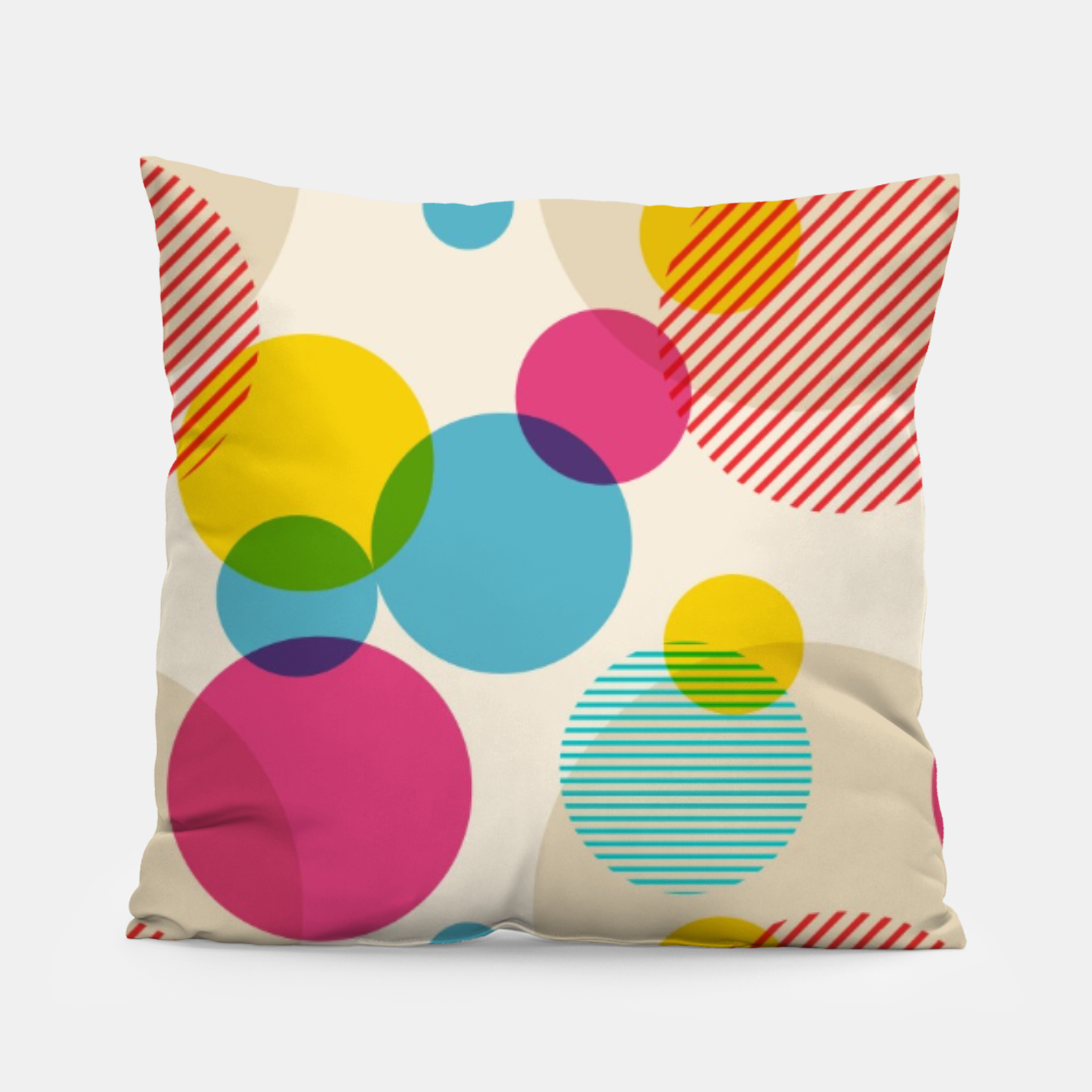 Image of Dots in Yellow, Pink and Blue – Pillow - Live Heroes