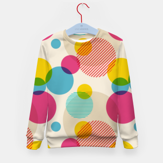 Thumbnail image of Dots in Yellow, Pink and Blue – Kid's sweater, Live Heroes