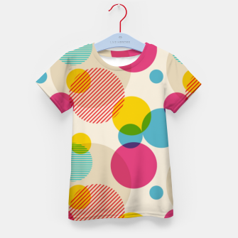 Thumbnail image of Dots in Yellow, Pink and Blue – Kid's t-shirt, Live Heroes