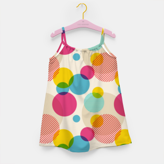 Dots in Yellow, Pink and Blue – Girl's dress thumbnail image