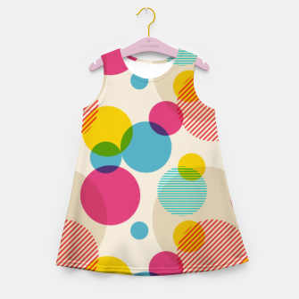 Thumbnail image of Dots in Yellow, Pink and Blue – Girl's summer dress, Live Heroes