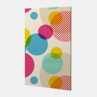 Thumbnail image of Dots in Yellow, Pink and Blue – Canvas, Live Heroes