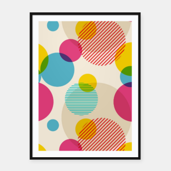 Dots in Yellow, Pink and Blue – Framed poster thumbnail image
