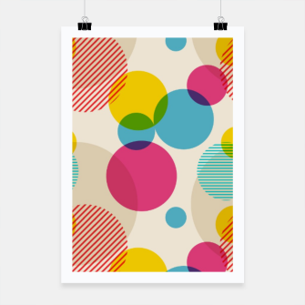 Dots in Yellow, Pink and Blue – Poster thumbnail image