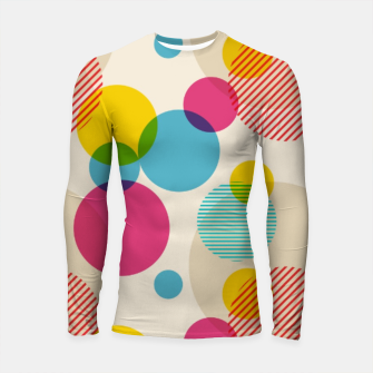 Thumbnail image of Dots in Yellow, Pink and Blue – Longsleeve rashguard , Live Heroes