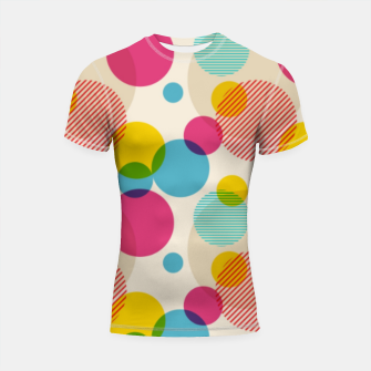 Thumbnail image of Dots in Yellow, Pink and Blue – Shortsleeve rashguard, Live Heroes