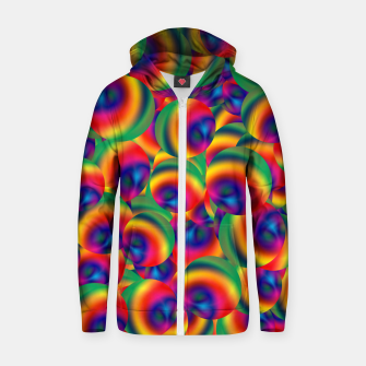 Thumbnail image of Rainbow Bubbles Complete Takeover Zip up hoodie, Live Heroes