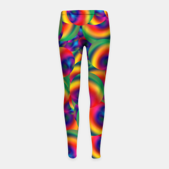 Thumbnail image of Rainbow Bubbles Complete Takeover Girl's leggings, Live Heroes