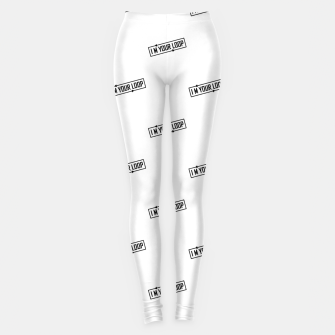Thumbnail image of I Am Your Loop Typographic Design Leggings, Live Heroes