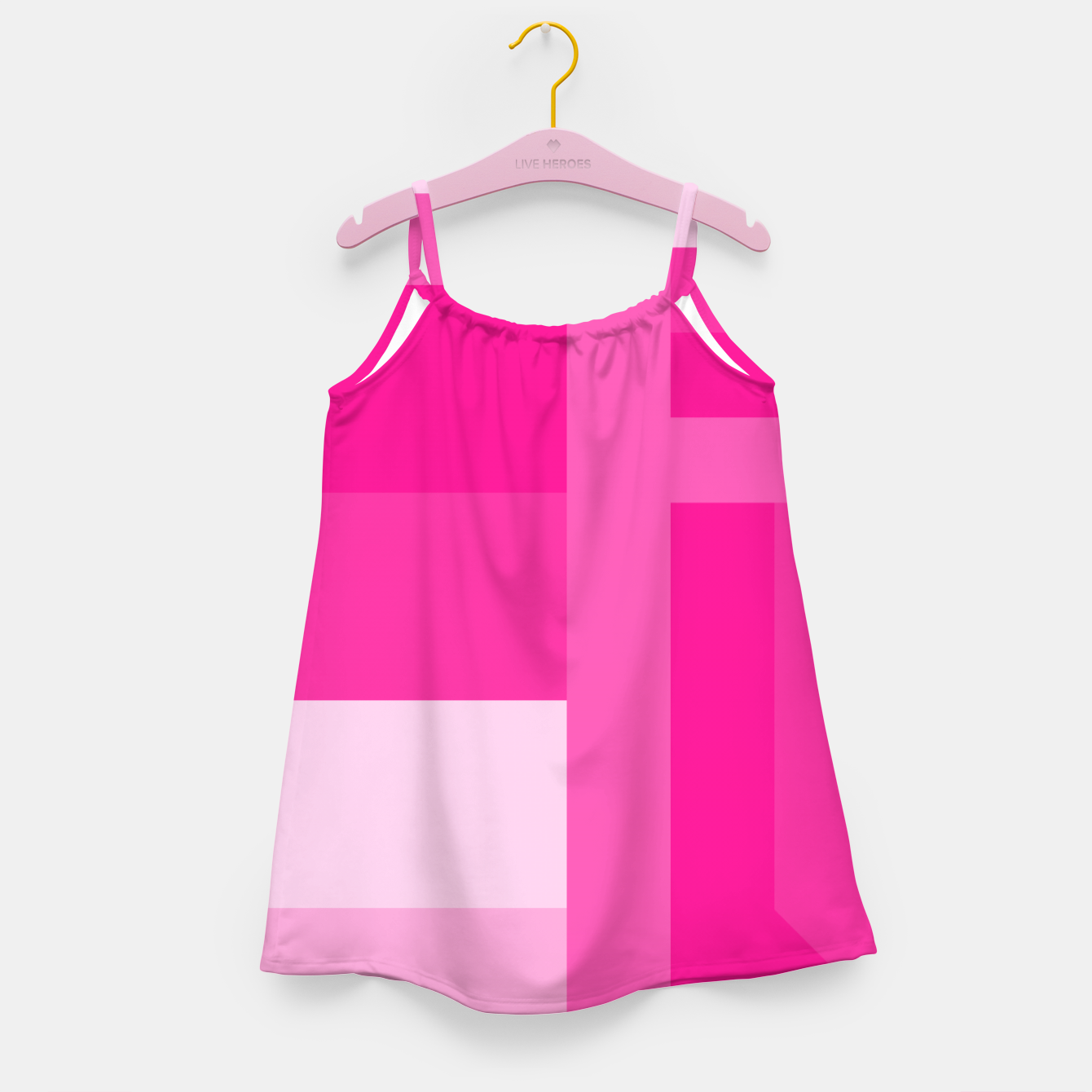 Image of stripes pattern 9 geometric dp Girl's dress - Live Heroes