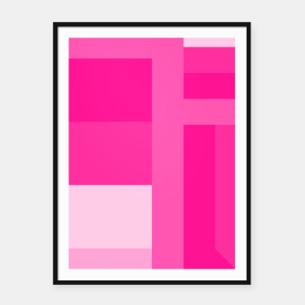 stripes pattern 9 geometric dp Framed poster thumbnail image