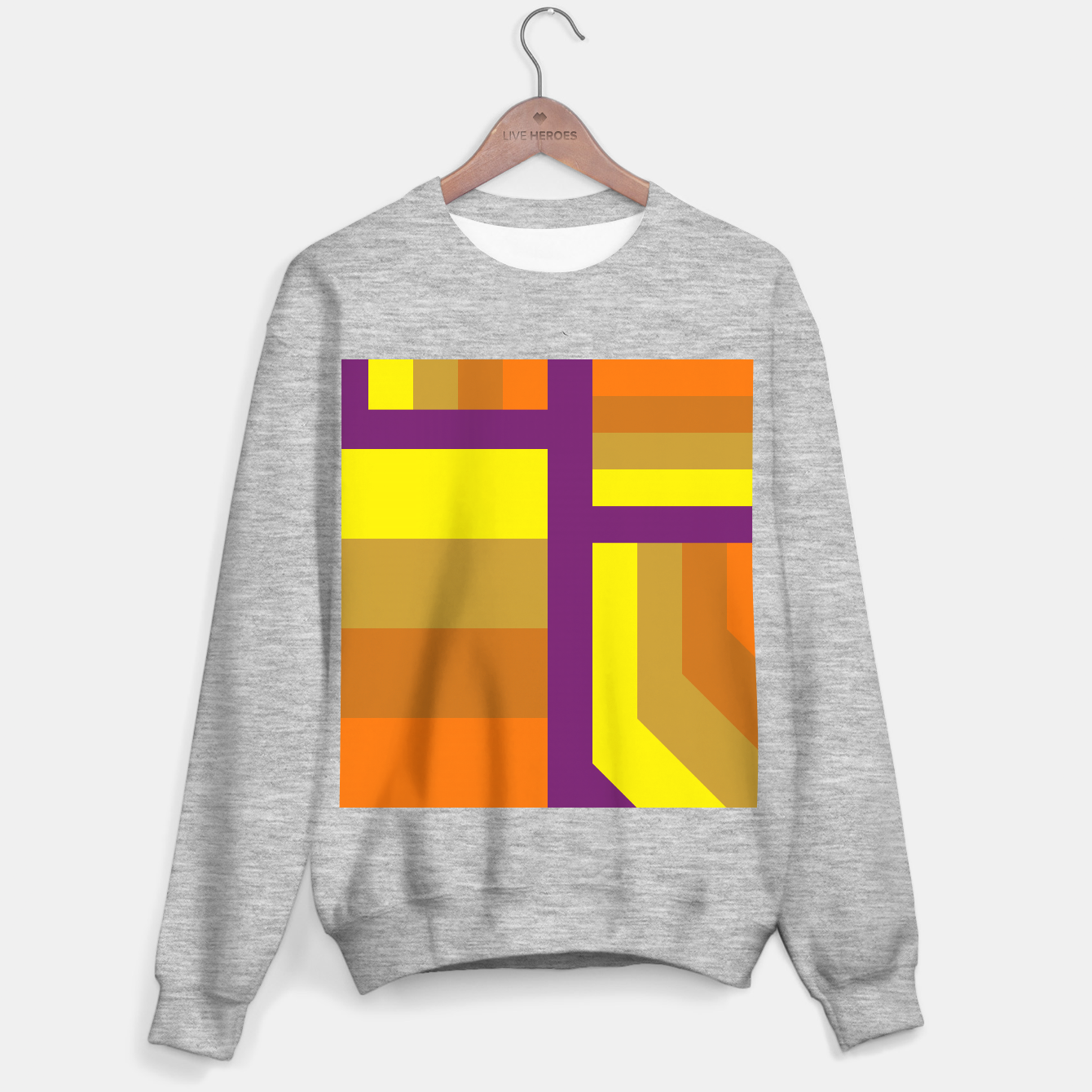 Image of stripes pattern 9 geometric yvo Sweater regular - Live Heroes