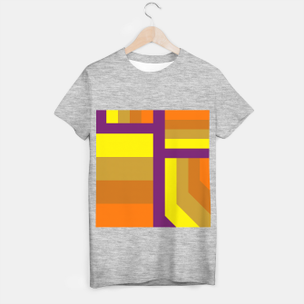 Miniatur stripes pattern 9 geometric yvo T-shirt regular, Live Heroes