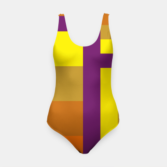 stripes pattern 9 geometric yvo Swimsuit thumbnail image