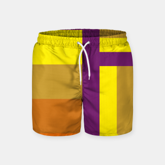 Miniatur stripes pattern 9 geometric yvo Swim Shorts, Live Heroes