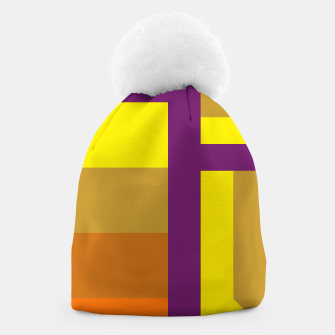 stripes pattern 9 geometric yvo Beanie thumbnail image