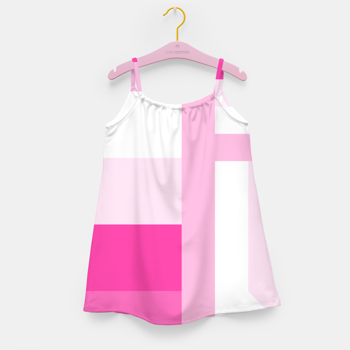 Image de stripes pattern 9 geometric dpi Girl's dress - Live Heroes