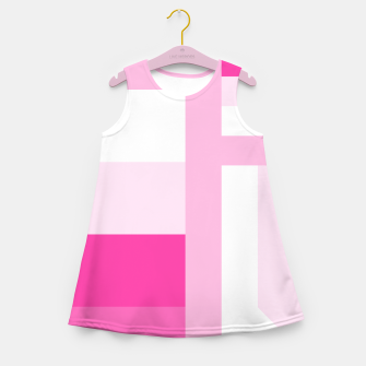 Thumbnail image of stripes pattern 9 geometric dpi Girl's summer dress, Live Heroes