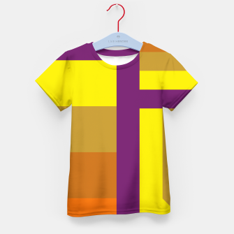 Thumbnail image of stripes pattern 9 geometric yvo Kid's t-shirt, Live Heroes