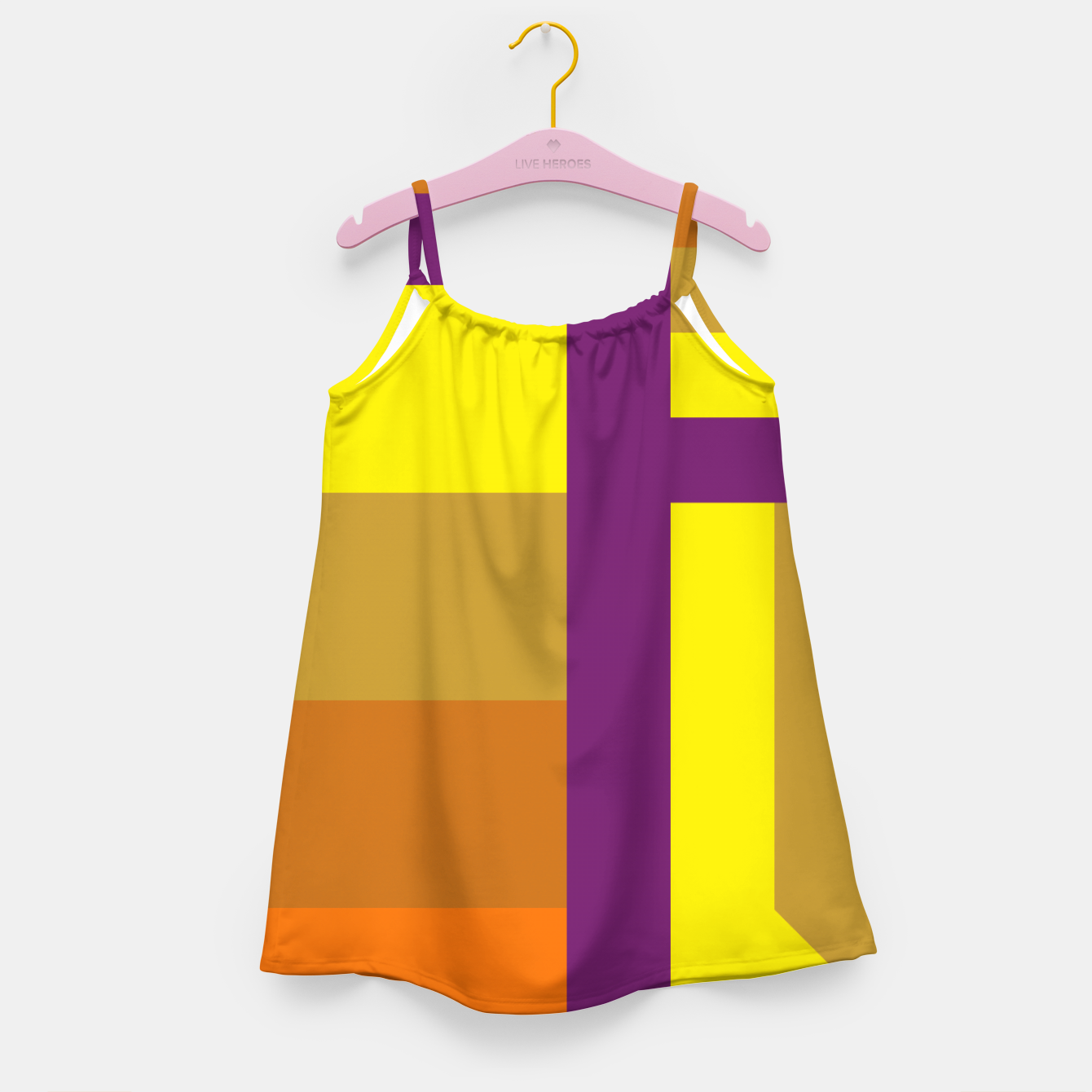 Image of stripes pattern 9 geometric yvo Girl's dress - Live Heroes