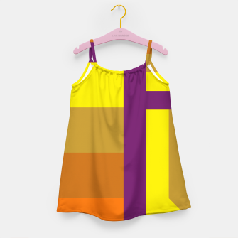 stripes pattern 9 geometric yvo Girl's dress thumbnail image