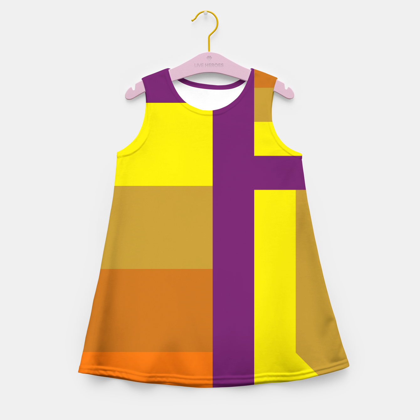 Image of stripes pattern 9 geometric yvo Girl's summer dress - Live Heroes