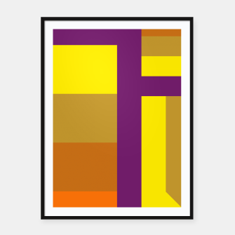 stripes pattern 9 geometric yvo Framed poster thumbnail image