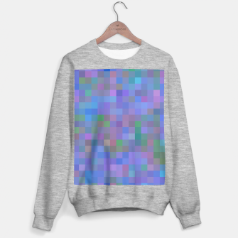 Thumbnail image of geometric square pixel pattern abstract in purple blue pink Sweater regular, Live Heroes