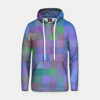 Thumbnail image of geometric square pixel pattern abstract in purple blue pink Hoodie, Live Heroes