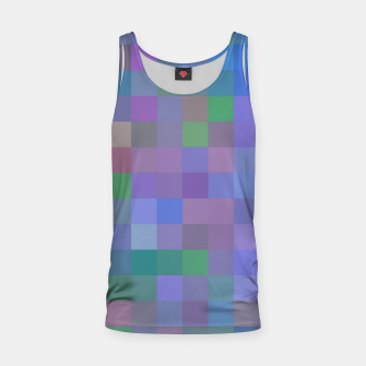 Thumbnail image of geometric square pixel pattern abstract in purple blue pink Tank Top, Live Heroes