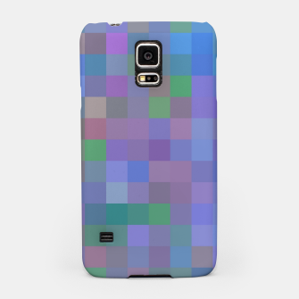 Thumbnail image of geometric square pixel pattern abstract in purple blue pink Samsung Case, Live Heroes