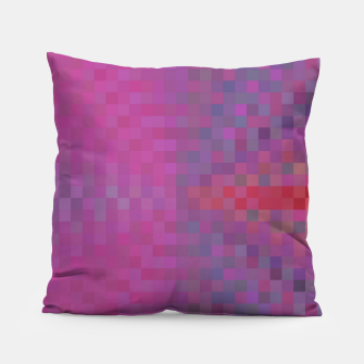 Thumbnail image of geometric square pixel pattern abstract background in pink and blue Pillow, Live Heroes