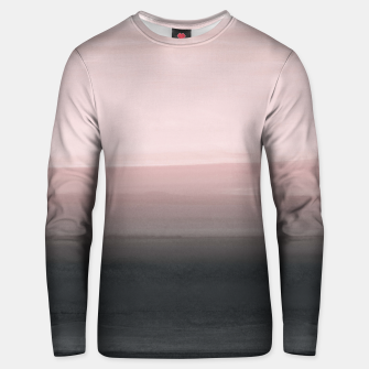 Touching Blush Black Watercolor Abstract #1 #painting #decor #art  Unisex sweatshirt obraz miniatury
