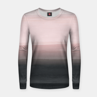 Touching Blush Black Watercolor Abstract #1 #painting #decor #art  Frauen sweatshirt obraz miniatury