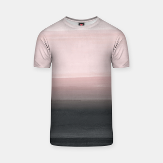 Touching Blush Black Watercolor Abstract #1 #painting #decor #art  T-Shirt miniature