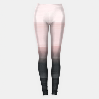 Touching Blush Black Watercolor Abstract #1 #painting #decor #art  Leggings obraz miniatury