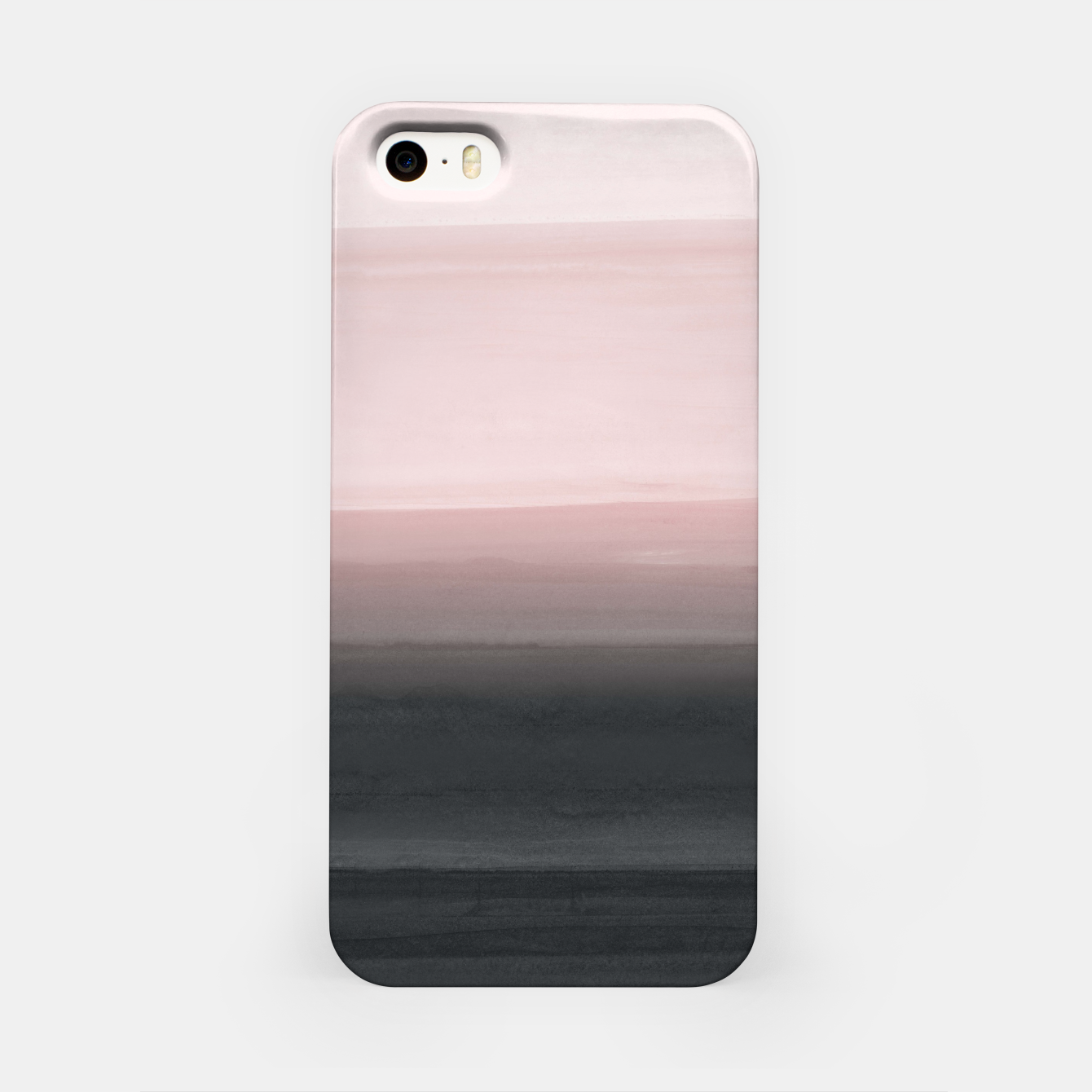 Image de Touching Blush Black Watercolor Abstract #1 #painting #decor #art  iPhone-Hülle - Live Heroes