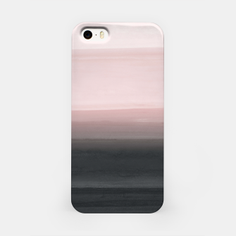 Thumbnail image of Touching Blush Black Watercolor Abstract #1 #painting #decor #art  iPhone-Hülle, Live Heroes