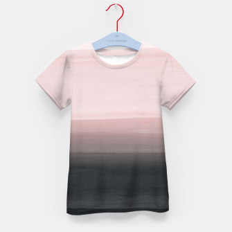 Touching Blush Black Watercolor Abstract #1 #painting #decor #art  T-Shirt für kinder obraz miniatury