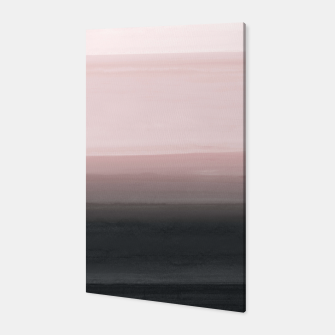 Touching Blush Black Watercolor Abstract #1 #painting #decor #art  Canvas obraz miniatury