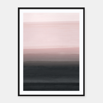 Touching Blush Black Watercolor Abstract #1 #painting #decor #art  Plakat mit rahmen obraz miniatury