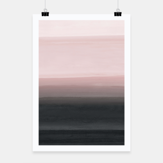 Touching Blush Black Watercolor Abstract #1 #painting #decor #art  Plakat obraz miniatury