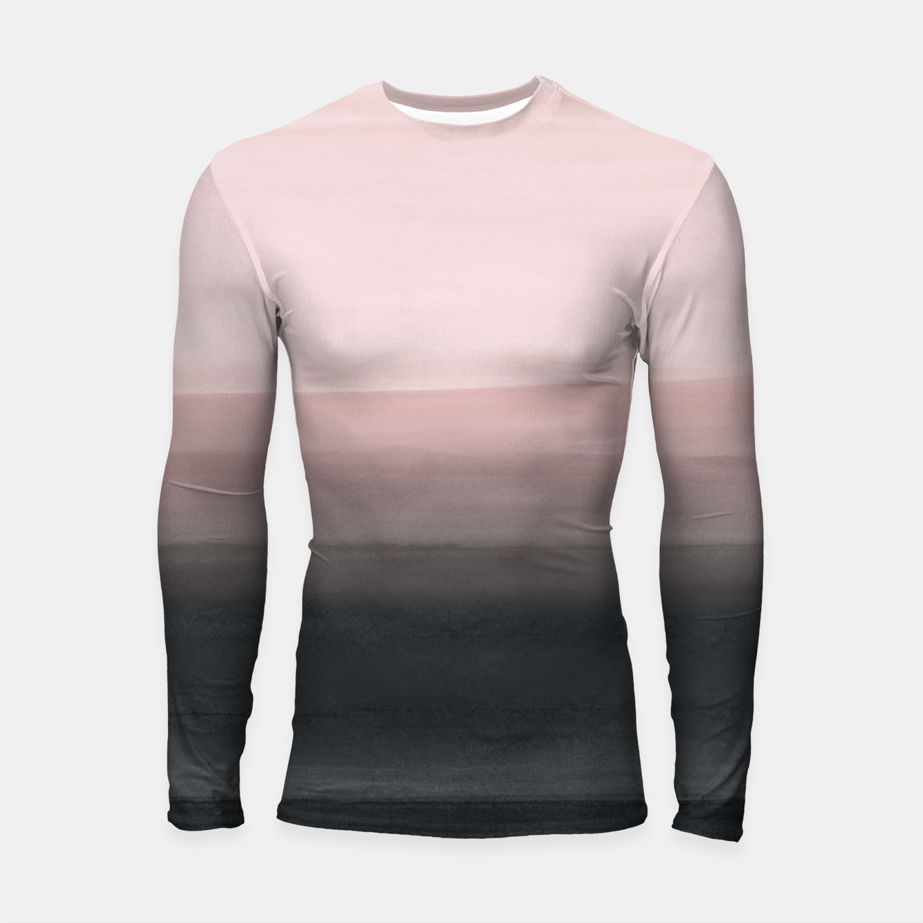 Zdjęcie Touching Blush Black Watercolor Abstract #1 #painting #decor #art  Longsleeve rashguard - Live Heroes