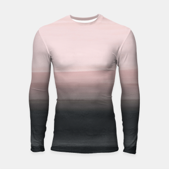 Imagen en miniatura de Touching Blush Black Watercolor Abstract #1 #painting #decor #art  Longsleeve rashguard, Live Heroes