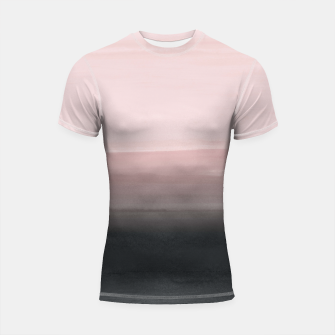 Touching Blush Black Watercolor Abstract #1 #painting #decor #art  Shortsleeve rashguard obraz miniatury